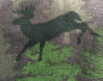 Fleece Dark Purple Deer Blanket