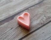 Little Heart Outline - Hand Carved Rubber Stamp