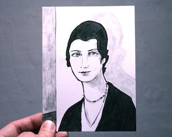 original portrait painting 4.5x6