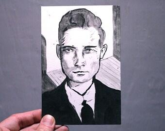 original portrait painting 4x6