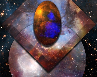 Astral Abstraction II - 11x14 Abstract Fantasy Cosmos Fine Art Print