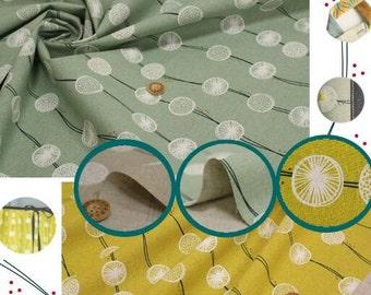 Japanese Designer Cotton Linen Blended Fabric Kokka Tayutou - Root Crop - Half Yard
