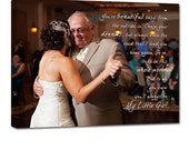 Photo and Word Art Canvas Gift for him, Holiday Photo Gift,  Unique custom wall art, Your Photo and Words Gifts for Dad or Mom