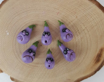 Fantasy vegetables with faces - AUBERGINE