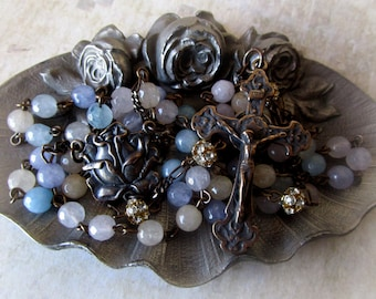Bronze and Agate Gemstone Rosary