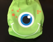 Friendly Green Monster Pocket Cloth Diaper