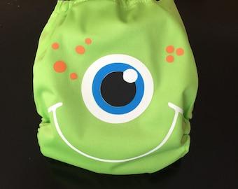 Friendly Green Monster Pocket Cloth Diaper