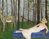 Katherine's recurring dream.  A limited edition print of an original oil painting by Vivienne Strauss.