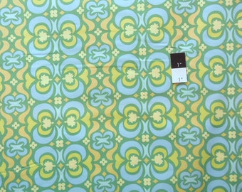 Amy Butler AB23 Midwest Modern Garden Maze Green Cotton Fabric 1 Yard