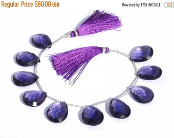 55% OFF SALE 1/2 Strand -  Finest Quality Iolite Blue Quartz Faceted Pear Briolettes Size 21x16mm approx Beautiful Brios Wholesale Price