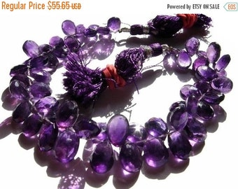 50% Off Valentine day African Amethyst Faceted Pear Briolettes Set of 25 Pieces Size 9x7 - 10x8mm approx