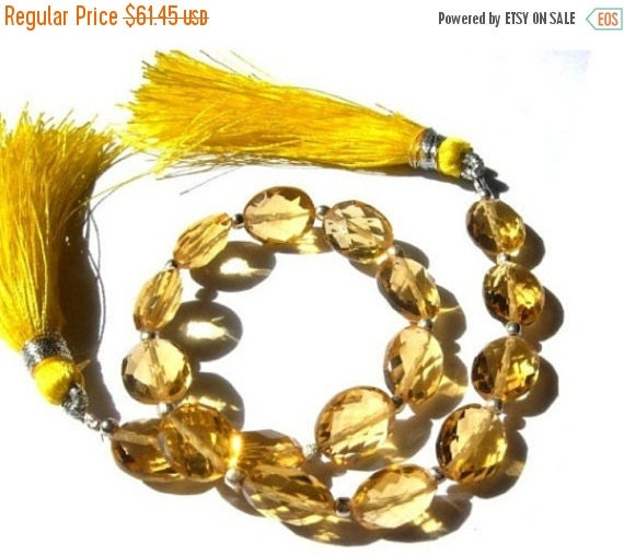 55% OFF SALE 8 Inches Finest Quality Citrine Quartz Faceted Oval Briolettes Size 10x8mm Approx, High Quality Great Price