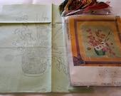 Vintage Crewel Embroidery Kit Vogart Japanese Lanterns Plant