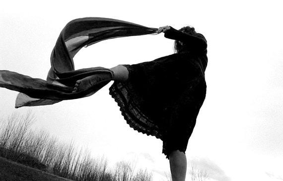 Zoja - Contemporary DancerIII - dance photography, fine art black and white photograph, 8x10 paper