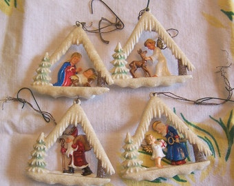 four western germany ornaments