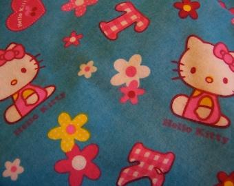 hello kitty flannel fabric