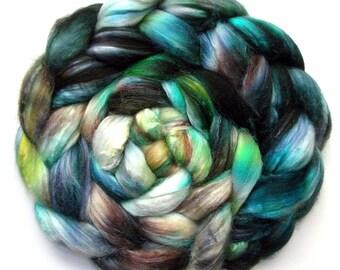 Silk Roving 50/50 Silk and Merino Combed Top, Deeper Still, 4.4 oz.