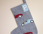 Custom Felt Race Car Stocking