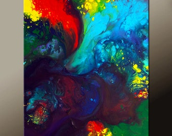 Abstract Art Canvas Painting 18x24 Contemporary Art Paintings by Destiny Womack - dWo - Imagination