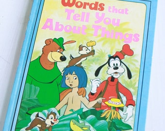 Vintage Words That Tell You About Things Disney Children's Book