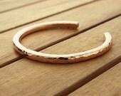 Hammered copper cuff | 5 mm or 4 mm | rustic cuff | heavy bangle | copper bracelet | women's cuff | men's cuff | made to order