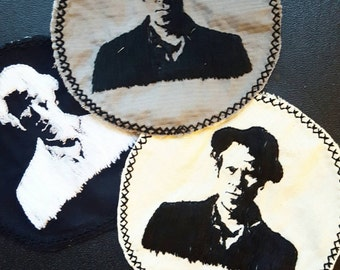 Tom Waits embroidered patch