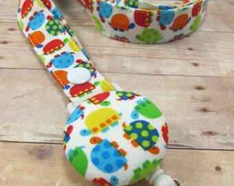 Lanyard | Cute Lanyards, Teacher Lanyard, Lanyard with ID Holder, Fabric Lanyard - Colorful Turtles