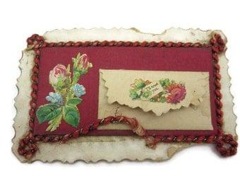 Antique Valentine Card and Envelope - Victorian Ephemera Scrap