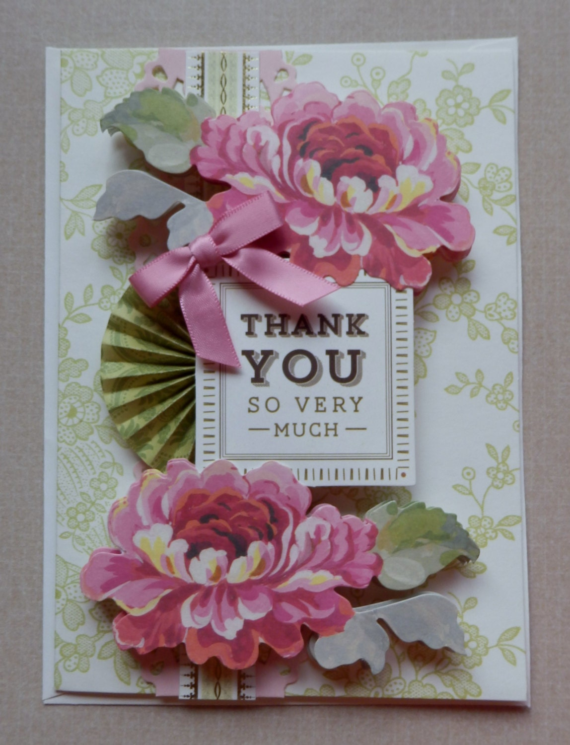 Handmade Thank You Card Made With Anna Griffin Design And