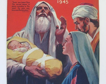 1945 The War Cry Magazine Salvation Army magazine Christmas 1945 religious