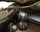 Fold Formed Silver Dangle Earrings