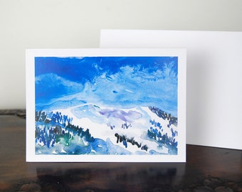 Mountains Card, The Mountains Are Calling, Blank Card, Greeting Card, All Occasion Notecard
