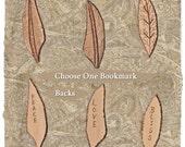 Bookmark Leaf or Feather Fairy Fae Faery Prim Rustic (Your Choice)