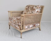 butterfly FRENCH provincial mid century cane arm chair
