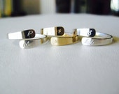 Personalized Wrap Ring, Silver Initial Ring, Gold Initial Ring, Adjustable Ring