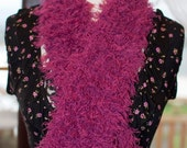 On Sale Handknitted Fluffy Pink Scarf