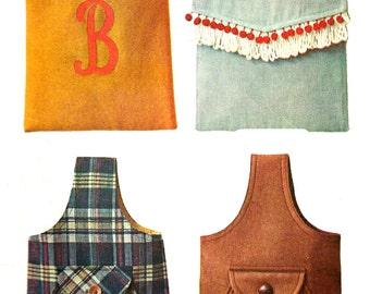 1960s Purse Pattern Sling Handbag Tote Bag Vintage McCall's Sewing Women's Misses Monogram