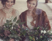 Vintage  Mink Fur Bridal Wrap-capelet-Pockets-Pristine condition