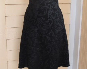 Jersey Knit Skirt - Textured Black - Size Small