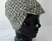Fuddy Duddy Winter Bike Hat (M) of Vintage Recycled Knit With Earflap