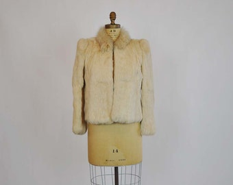 1970s jacket  / Vintage 70's Boho Rock Star Fur Trim Jacket
