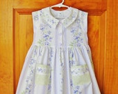 Girls lavender, maxi dress, flower stripe, size 4, Party dress, OOAK, Easter dress, toddler, sage green, summer, shabby chic, ready to ship