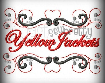 Yellow Jackets Pride Embroidery Design