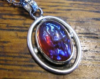 DRAGON'S BREATH Necklace, Sterling Silver, 18 in chain, Original Antique!