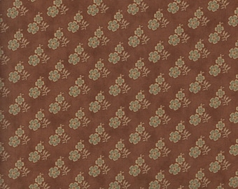 Moda Gratitude 38005 16 Small Flowers on Vintage Chocolate Brown by the yard