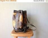40% OFF ENTIRE SHOP Vintage Sabah Carryall • 1980s Handbag •Structured Bucket Crossbody Woven Straw Drawstring Purse •Backpack Rucksack Du
