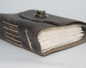 Rugged leather journal / 3rd anniversary gift / leather bound book / sketchbook