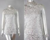 Xanadu sequin beaded top | vintage 1960s sequin blouse | 60s beaded top