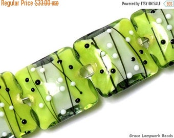 ON SALE 30% OFF Glass Lampwork Bead Set - Four May Day Party Pillow Beads 10506914