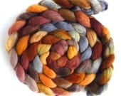 Finn Wool Roving - Hand Painted Spinning or Felting Fiber, Noon Train